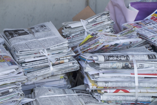 不燃ゴミと不燃性粗大ゴミ、古紙などの資源ごみ
